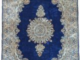 Persian Rug Navy Blue Navy Blue 6 7 X 9 10 Kerman Persian Rug