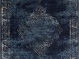 Persian Rug Navy Blue Navy Blue Light Blue Beige oriental Distressed – Modern