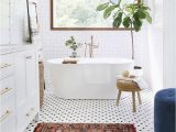 Persian Style Bath Rug Bathroom with Persian Rug and Polka Dotted Floors Pinned