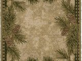 """Pine Cone Bath Rugs Brumlow Mills Pine Cone Rustic Fall Winter Gingham Kitchen or Home Decor area Rug 20""""x44"""" Rectangle Dark Green"""
