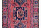 Pink and Blue oriental Rug Semi Antique Pink and Blue Persian Hamadan oriental Runner