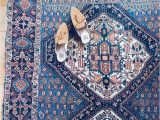 Pink and Blue Persian Rug Antique Persian Rug Pink & Blue — We are Here now