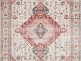 Pink and Blue Persian Rug Pink and Gray southwestern Boho Bohemian Persian Style Rug