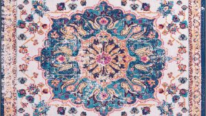 Pink and Teal area Rug Saxmundham oriental Beige Pink Teal area Rug