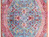 Pink and Turquoise area Rug Safavieh Sutton Collection Sut401b Turquoise and Fuchsia