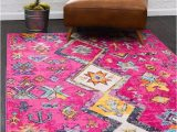 Pink and Yellow area Rugs Ariyah southwestern Pink Yellow area Rug