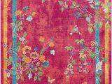 Pink and Yellow area Rugs Surya Aura Silk Bright Pink Yellow Green Polypropylene area Rug 36×24