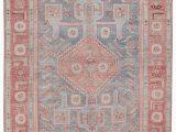 Pink Blue area Rug Fiddler Medallion Pink Blue area Rug 5 X8