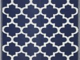 Plastic Cover for area Rug Lightweight Indoor Outdoor Reversible Plastic area Rug 5 9 X 8 9 Feet Trellis Blue White