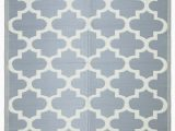 Plastic Cover for area Rug Lightweight Indoor Outdoor Reversible Plastic area Rug Trellis Grey & White – Beverly Rug
