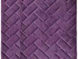 Plum Colored Bath Rugs Plum Purple Memory Foam Bath Mat Rug Brick Design Spa