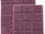 Plum Colored Bath Rugs Superior Bath Rugs Set Cotton for Bathroom Non Slip Checkered Design 2 Piece Plum
