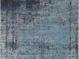 Plush Blue area Rug Madeleine Abstract Design soft and Plush Gray Blue area Rug