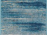"""Plush Blue area Rug Well Woven Layla Stripes Blue Tribal area Rug 20×31 20"""" X 31"""" Mat soft Plush Faded Abstract Modern Carpet"""