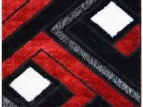 Plush Red Bathroom Rugs Black and Red Bathroom Rugs