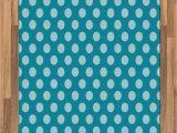Polka Dot area Rug 5×7 Amazon Ambesonne Teal area Rug Retro Style Pattern