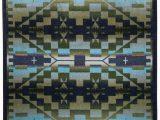 Premier Blue Rain Rug American Dakota Trader Rugs Rainbow Blanket Blue Shades