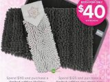 Premium Bath Microfiber Chenille Bath Rug Chenille Bath Mat and Gorgeous Holiday Chenille Hand towel
