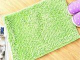 Premium Bath Microfiber Chenille Bath Rug Microfiber Anti Slip Bath Mat 2444 Parrot Green