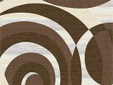 Premium Hand Carved area Rugs Galvez 3d Effect Hand Carved Abstract Brown area Rug