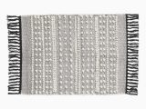 Project 62 Bath Rug White Charcoal Gray Bath Mat In Jacquard Weave Cotton