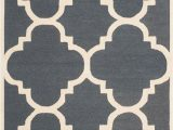 """Project 62 Hand Tufted area Rug Cam140x Color Dark Gray Ivory Size 2 6"""" X 10"""
