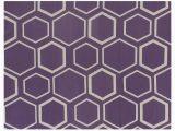 Purple and Beige area Rug Hand Woven Wool Purple Beige area Rug