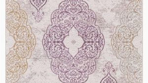 Purple and Gold area Rugs 2555 Multi
