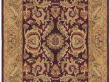 Purple and Gold area Rugs oriental Handmade Tufted Wool Purple Eggplant Gold area Rug