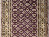 Purple and Gold area Rugs Rugstc 4 1 X 6 0 Bokhara Jaldar area Rug with Silk & Wool