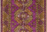 Purple and Gold area Rugs Surya Arabia Joelle area Rug