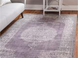 Purple and Silver area Rugs 9 X 12 New Vintage Rug
