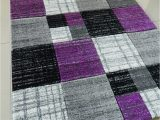 Purple and Silver area Rugs Purple Black Silver Grey Mottled Small Medium Xx Large Rug New Modern soft Thick Carved Carpet Non Shed Runner Bedroom Living Room area Rug Mat 160 X