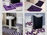 Purple Bath towels and Rugs Dark Purple Bathroom Rug Set Image Of Bathroom and Closet