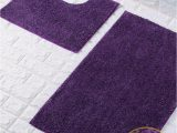 Purple Bath towels and Rugs Goldstar Purple Shiny Sparkling 2 Piece Bath Mat and