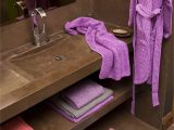 Purple Bath towels and Rugs Tropical Rug and Pousada Robe and Super Pile towels by Abyss