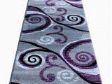 Purple Grey and Black area Rugs Masada Rugs Stephanie Collection area Rug Modern Contemporary Design 1100 Purple Grey White Black 2 Feet 4 Inch X 11 Feet Long Runner