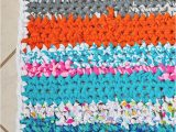 Rag Rug Bath Mat How to Crochet A Rag Rug with Fabric Scraps Scattered