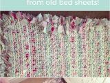 Rag Rug Bath Mat How to Make A Diy Rag Rug Using Old Bedding