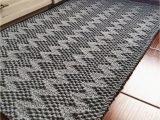 Rag Rug Bath Mat Knitted Carpet Bath Mat Hand Knitted Rag Rug Cotton Carpet