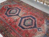 Red and Blue Persian Style Rug Red Sea Vintage Persian Rug Blue Salvage Vintage Rugs and Handmade Bohemian Home Decor