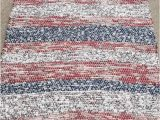 Red and Blue Striped Rug 4th Of July Woven Rug Red White and Blue Runner Textile