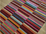 Red and Blue Striped Rug Multicoloured Striped Rug On Sale Only A199 Free Delivery