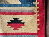 Red and Blue Striped Rug Navy Blue and Red Rugs Dhurrie Rugs Blue Indian Dhurries