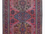 "Red and Blue Vintage Rug Blue Red New Hand Knotted Anatolian Rug 3 5"" X 6 2"" 41 In X 74 In"