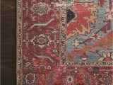 Red and Blue Vintage Rug Loloi Rugs Loren Printed Lq 10 area Rugs