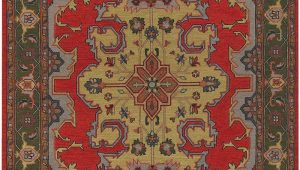 Red and Brown area Rugs Walmart European Pooja Collection area Rug In Red Brown and Rectangle Shape