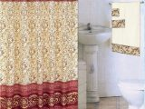 Red and Gold Bathroom Rugs Burgundy 18 Piece Bathroom Set 2 Rugs Mats 1 Fabric Shower