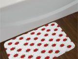 Red and White Bath Rug Red White Ladybugs Bath Rug