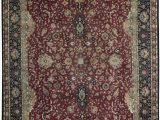 """Red Black and Beige area Rugs E Of A Kind Hand Knotted Red Black Beige 12 2"""" X 15 4"""" Wool area Rug"""
